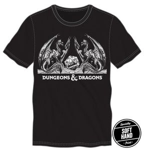 Dungeons and Dragons Black Specialty Soft Hand Tee Shirt T-Shirt - Dungeons & Dragons