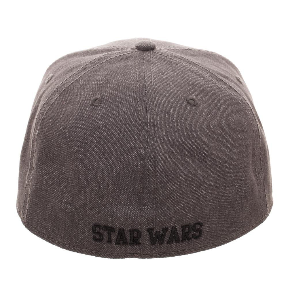 1ddbe4157efa5 ... Embroidered Star Wars Split Logo Rebel Imperial Flatbill Flex Cap -  Baseball Cap   Snapback ...