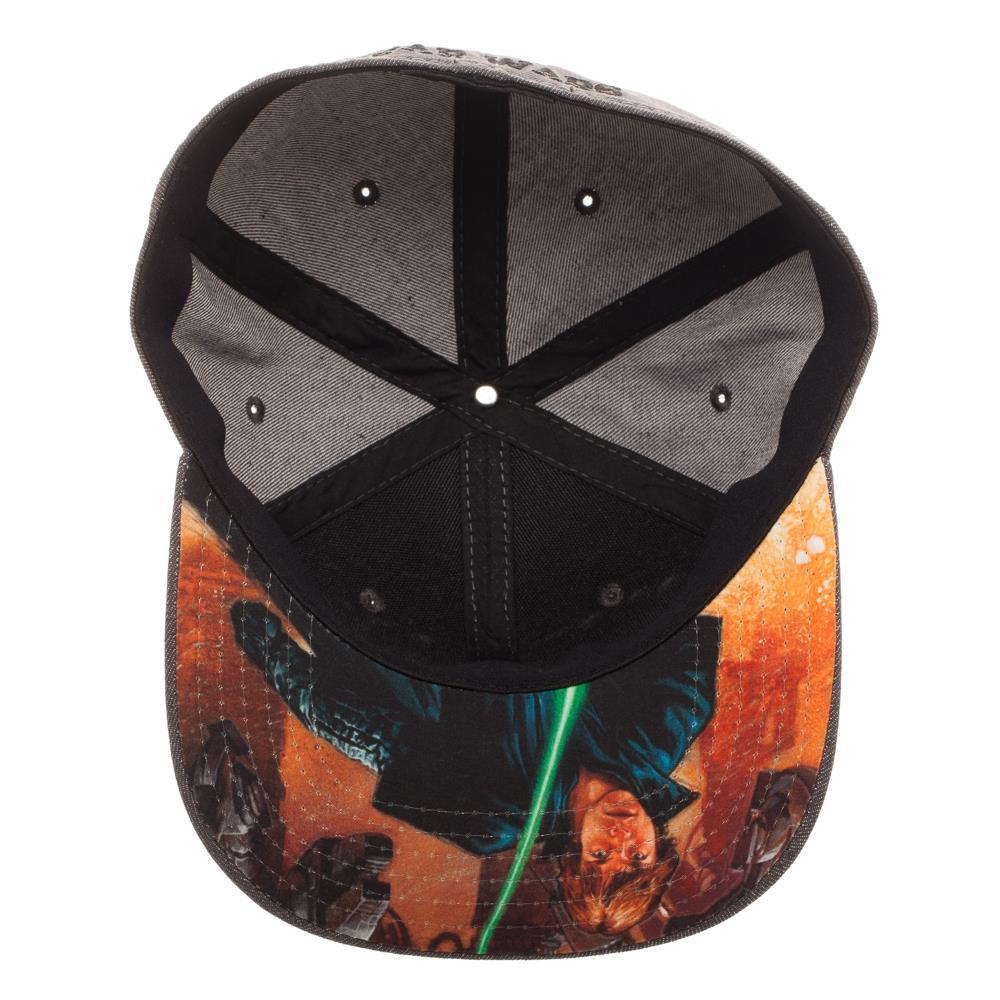d9e347c0b693f ... Embroidered Star Wars Split Logo Rebel Imperial Flatbill Flex Cap -  Baseball Cap   Snapback