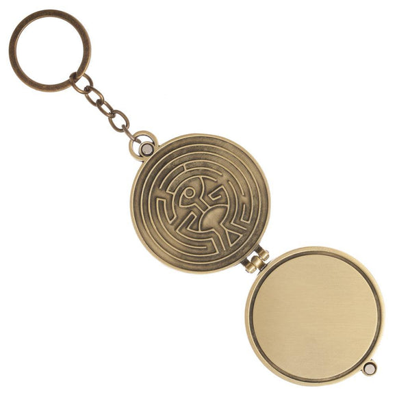 Westworld Logo Metal Keychain Locket Set with a Magnetic Closure