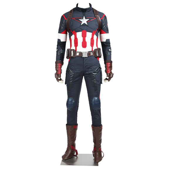The Avengers Age of Ultron Captain America Cosplay Costume Steve Rogers Halloween Outfit Adult Superhero Men Custom Made Costume