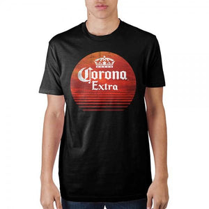 Coron Extra Red Circle Mens Black T-Shirt