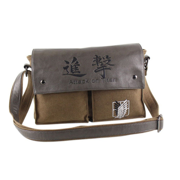 Attack on Titan Shingeki No Kyojin Canvas Messenger Bag