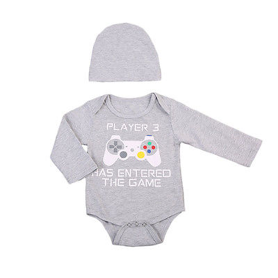 Player 3 Has Entered The Game Bodysuit/One-piece and Hat 2PCS Set