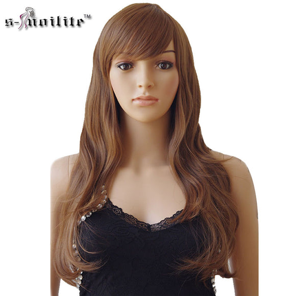 Long Curly Heat Resistant Fiber Natural Synthetic Wig