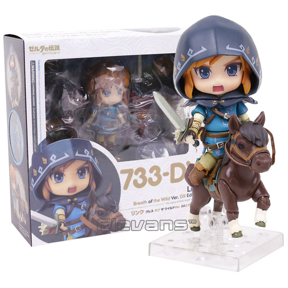 Nendoroid Legend of Zelda Breath of the wild Link #733 DX Edition Action Figure Collectible