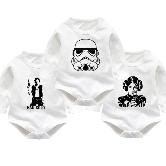 Star Wars Baby Bodysuit/Romper Long Sleeves 3pcs/set