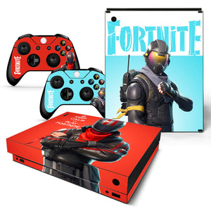 Game Fortnite Top Quality For Microsoft Xbox One X Console Vinyl Sticker + Kinect 2 Controller Skins For XBox OneX Skin Stickers