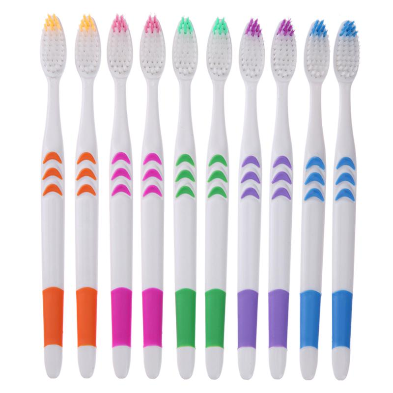 10pcs/pack Double Ultra Soft Toothbrush - Bell'Art Cosmetics