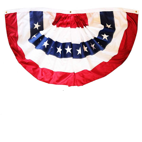 """Betsy Ross American Patriotic Bunting /& Flag Pulldown Embroidered Stars 20/"""" x8/'"""