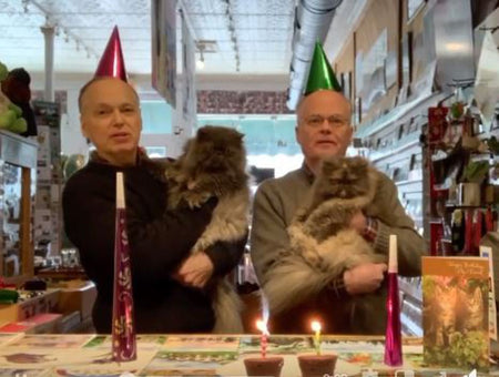 Celebrating Harry and Grace's the Cats 6th Birthday TwinDesigns Gift Shop Bristol New Hampshire
