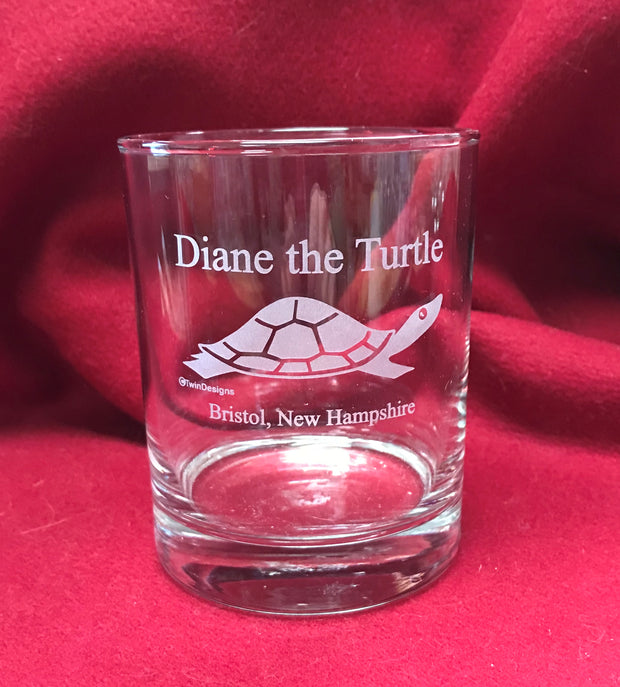 14oz Diane the Turtle High Ball Glass