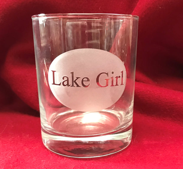 14oz Lake Girl High Ball Glass