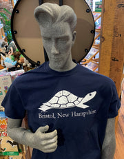 Diane the Turtle  Bristol, New Hampshire Adult T-shirt size Medium. Navy Blue 100% Cotton