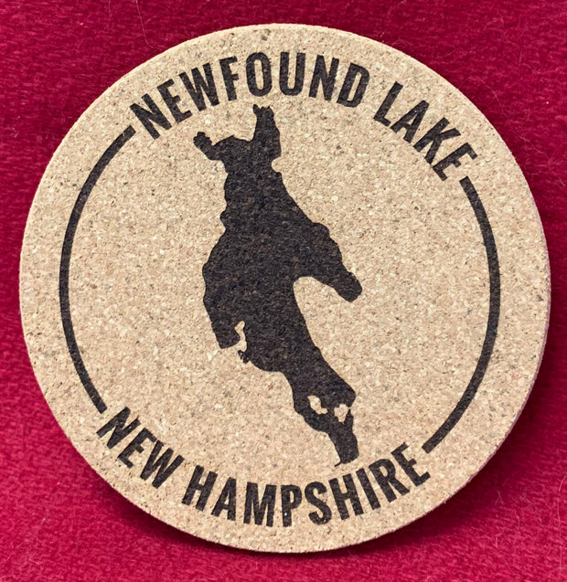 Newfound Lake Cork Coaster