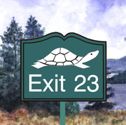 """Diane the Turtle  Exit 23"" 11oz Ceramic Mug Original Watercolor by Brad Tonner"