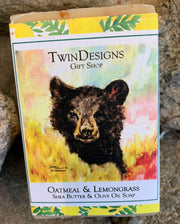 """Bear"" Soap featuring an Original Watercolor by Brad Tonner"