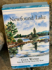 """Loon Island Newfound Lake"" Soap Original Watercolor by Brad Tonner"