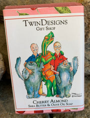 """The TwinDesigns Gang"" Soap Featuring an Original Watercolor by Brad Tonner"