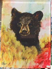 """Bear"" Garden Flag Original Watercolor by Brad Tonner"