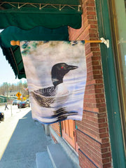 """Loon"" House Flag Original Watercolor by Brad Tonner"