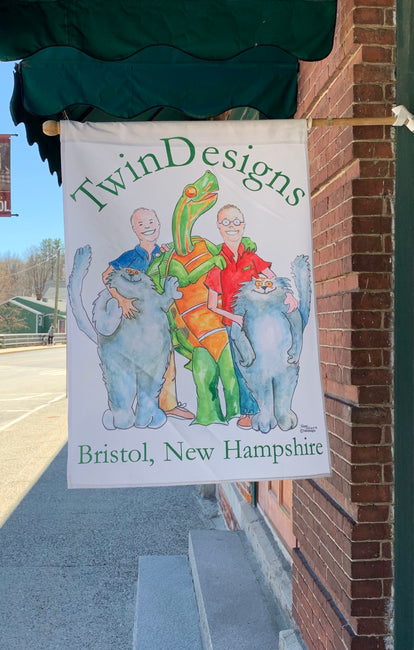 """TwinDesigns Logo"" House Flag Original Watercolor by Brad Tonner"