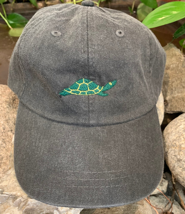 Diane the Turtle Embroidered Turtle Adult Hat Black One Size Fits All
