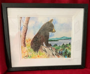 """The Lake is Calling"" Framed Print of an Original Watercolor by Brad Tonner"