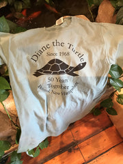 Diane the Turtle Celebrating 50 Years Together Adult T-shirt size Large