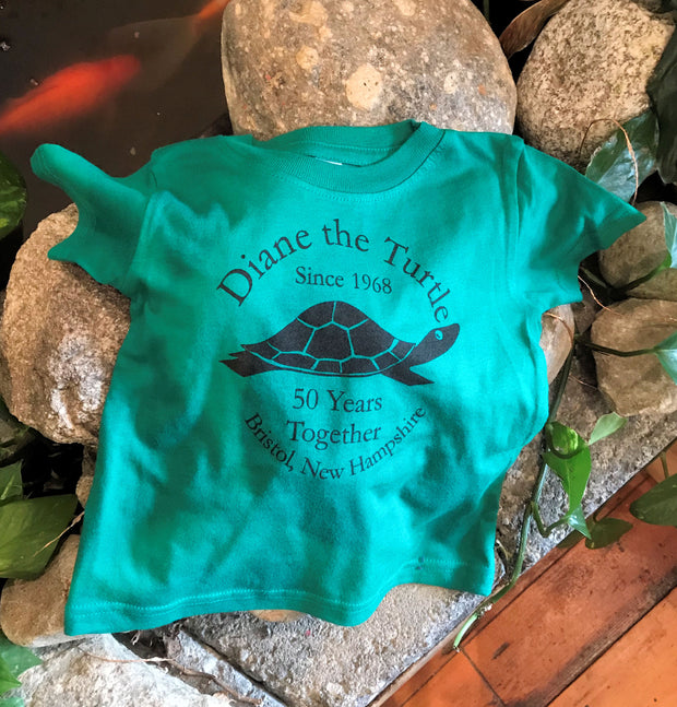Diane the Turtle Celebrating 50 Years Together Toddler T-shirt size Baby 24 months.