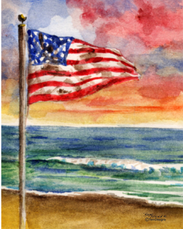 Summer Flag Note Cards