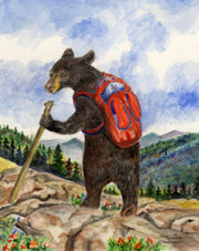 Bear Hiker Note Cards
