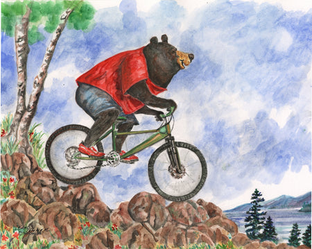 Bear Mountain Bike Note Cards
