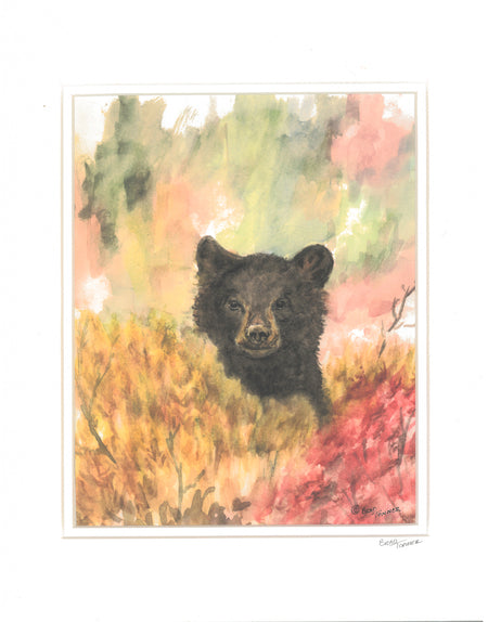 "Matted Print ""Bear"" by Brad Tonner"