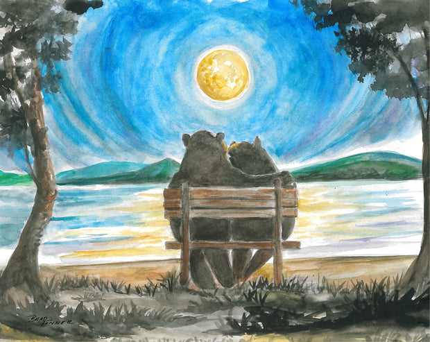 Moonlight Bears Note Cards