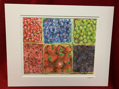 """Farm Stand"" print of an Original Watercolor by Brad Tonner"