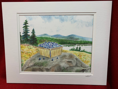 """Blueberries"" print of an Original Watercolor by Brad Tonner"