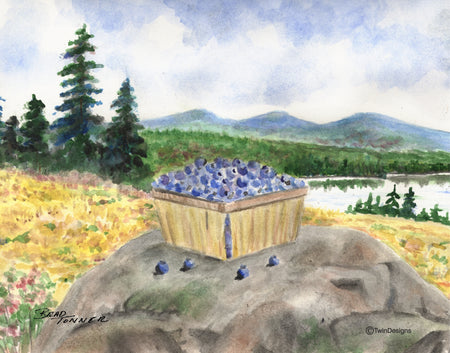 Blueberries Note Cards