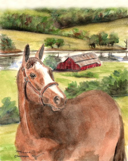 Horse Farm Note Cards