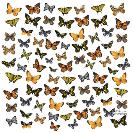 """Butterflies"" Ceramic Tile Trivet"