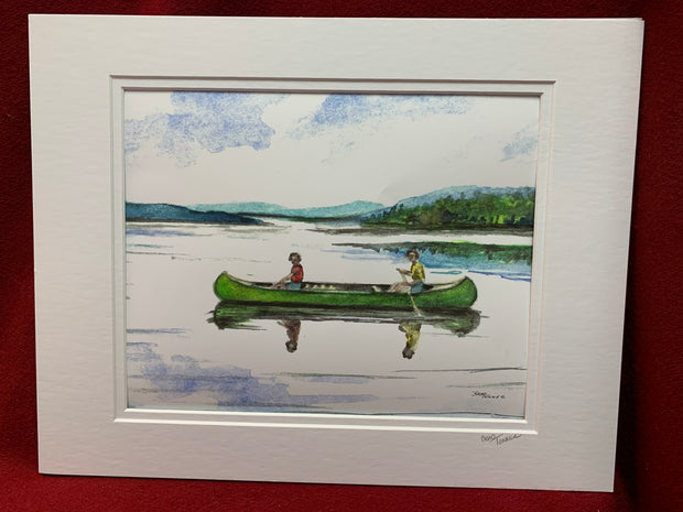 """Afternoon on the Lake"" print of an original Watercolor by Brad Tonner"