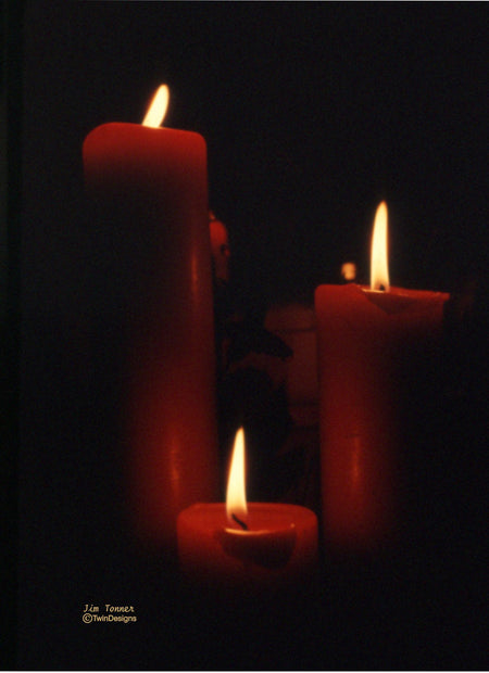 """Christmas Candles"" Boxed Christmas Cards Original Photograph by Jim Tonner"