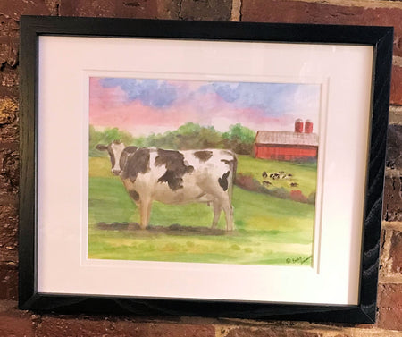 """Country Cow"" Framed Print by Brad Tonner"