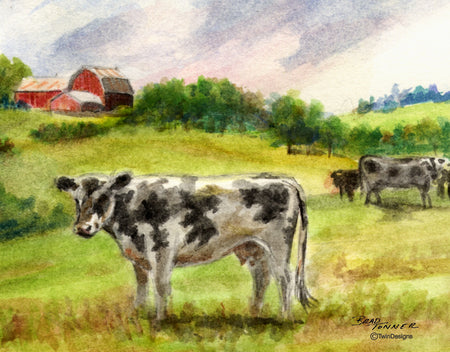 Country Cow Note Cards