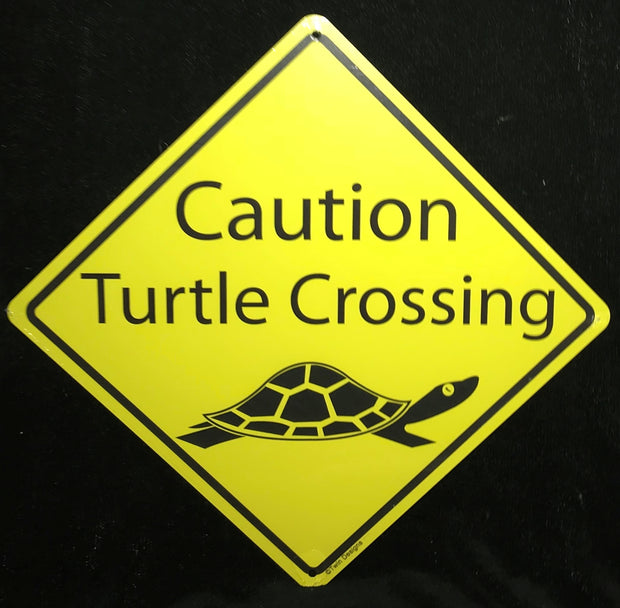 Caution Turtle Crossing Sign