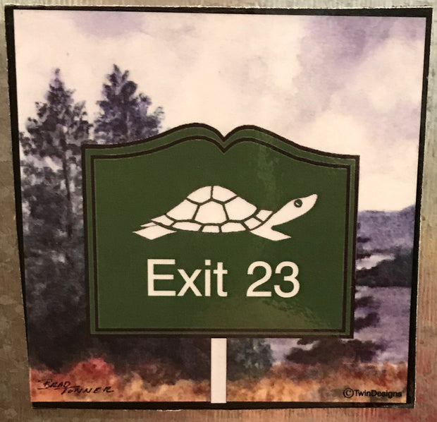 Diane the Turtle Logo Exit 23 Magnet