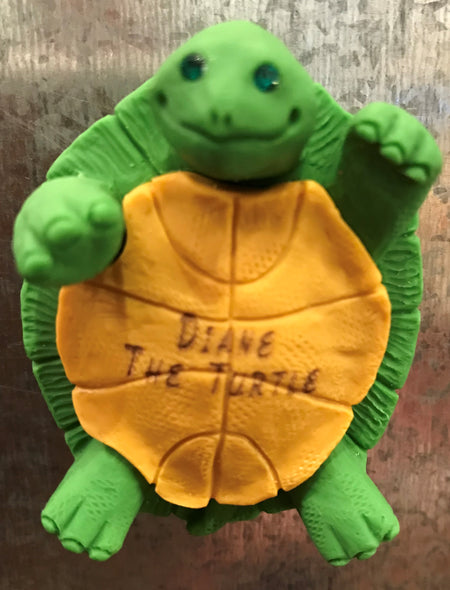 Diane the Turtle Magnet by Clay Critters