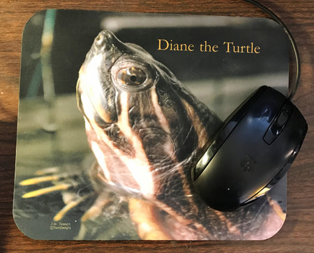 Diane the Turtle Mouse Pad
