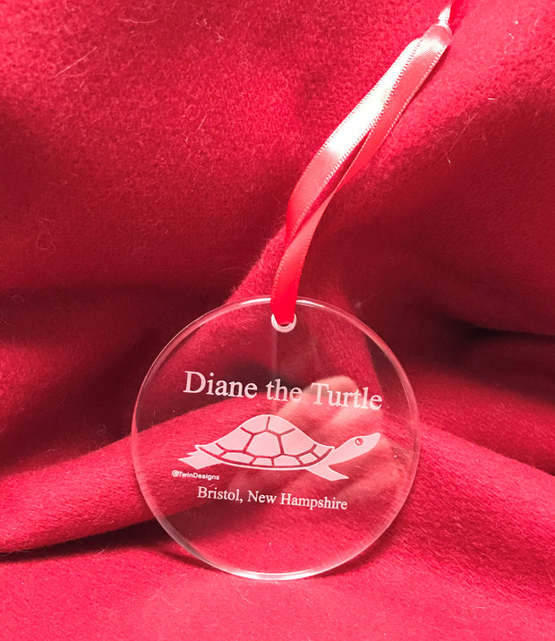 Crystal Diane the Turtle Ornament