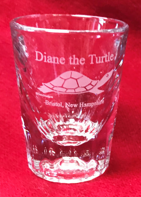 Diane the Turtle Crystal Shot Glass